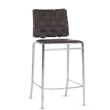 Design Studios Vittoria Leather Counter Stool (Set of 2) - Brown