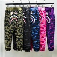 BAPE AAPE Hot Sale Fashion Camouflage Velvet Sport Pants Trousers Sweatpants