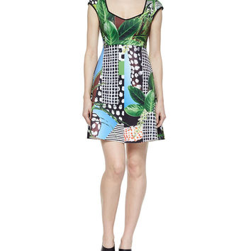 Harvest Ritual Printed Dress, Size: