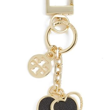 Women's Tory Burch 'Logo Heart' Key Fob
