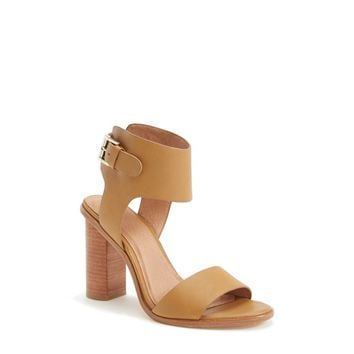 Joie Women's Opal Leather Stacked Heel Sandal