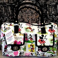 Disney Mickey Mouse Cartoon Handbag Purse White Pockets:Amazon:Everything Else