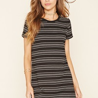 Striped Knit Mini Dress