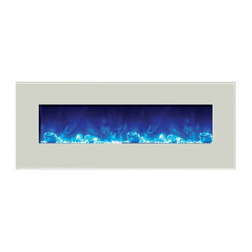 Amantii Built-in / Wall Mount Electric Fireplace (Fire & Ice, WM‐BI‐48‐5823-WHTGLS)