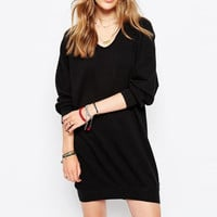 Black Loose Sweater Dress B0013606