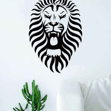 Lion V15 Decal Sticker Wall Vinyl Art Room Decor Animal King Jungle Beautiful