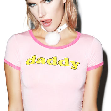 O Mighty OG Daddy Ringer Tee Pink