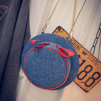 Summer Strong Character Butterfly Chain Hats Denim Shoulder Bags [6580920263]
