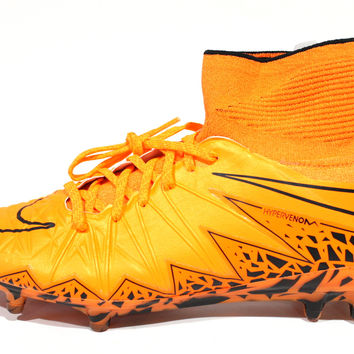 Nike Men's Hypervenom Phantom II LE FG Orange Soccer Cleats 747213 888