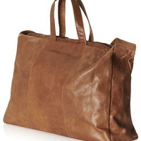 Tan Slouch Luggage Bag