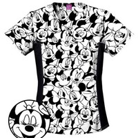 Buy Disney Womens Two Pocket Big Minnie Scrub Top for $21.45