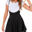 Black Suspender Skater Dress