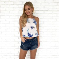 Charmed Life Floral Crop Top