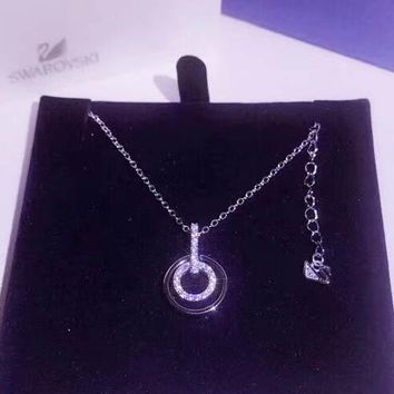 SWAROVSKI Fashion new more diamond circle pendant sterling silve 64945379f3