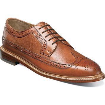 Florsheim Heritage Wingtip Oxford Cognac Men's Shoes