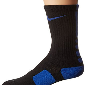 Nike Dri-FIT Elite Crew Basketball Socks Black/Game Royal Size Medium