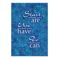 Start Where You Are. Print