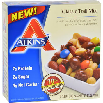 Atkins Trail Mix - Classic - 1.34 Oz - 5 Count - Case Of 4