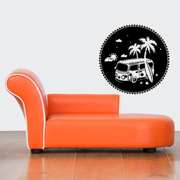 Nice Awesome Wall Decor Art Vinyl Sticker Decal Design Hipster Aloha Car Palm Surfboard 478