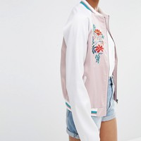 Glamorous Tall Embroidered Bomber Jacket