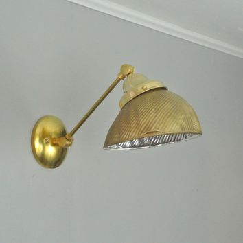 Adjustable Mercury Glass Sconce