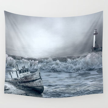 Somewhere Out There Wall Tapestry by Theresa Campbell D'August Art