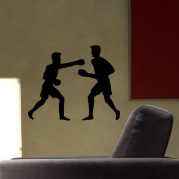 Boxers Decal Sticker Wall Boy Girl Teen Child Sport Boxing Champion Fight
