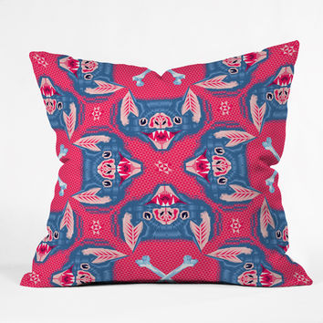 Chobopop Batface Pattern Throw Pillow