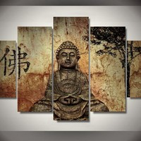 Buddha Mind And Soul 5-Piece Wall Art Canvas