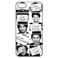 One Direction Iphone 5 5s Hard Back Shell Case Cover Skin for Iphone 5/5s Cases - Black/white/clear