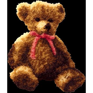 "Bernadette Bear Latch Hook Kit 21.5""X26"""