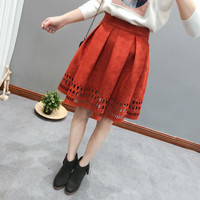 Winter Women's Fashion Hollow Out Skirt [6512965319]