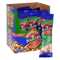 Planters Nuts on the Go Eighteen 1.5 Ounce Bags Heart Healthy Mix Peanuts, Almonds, Pistachios, Pecans, and Hazelnuts