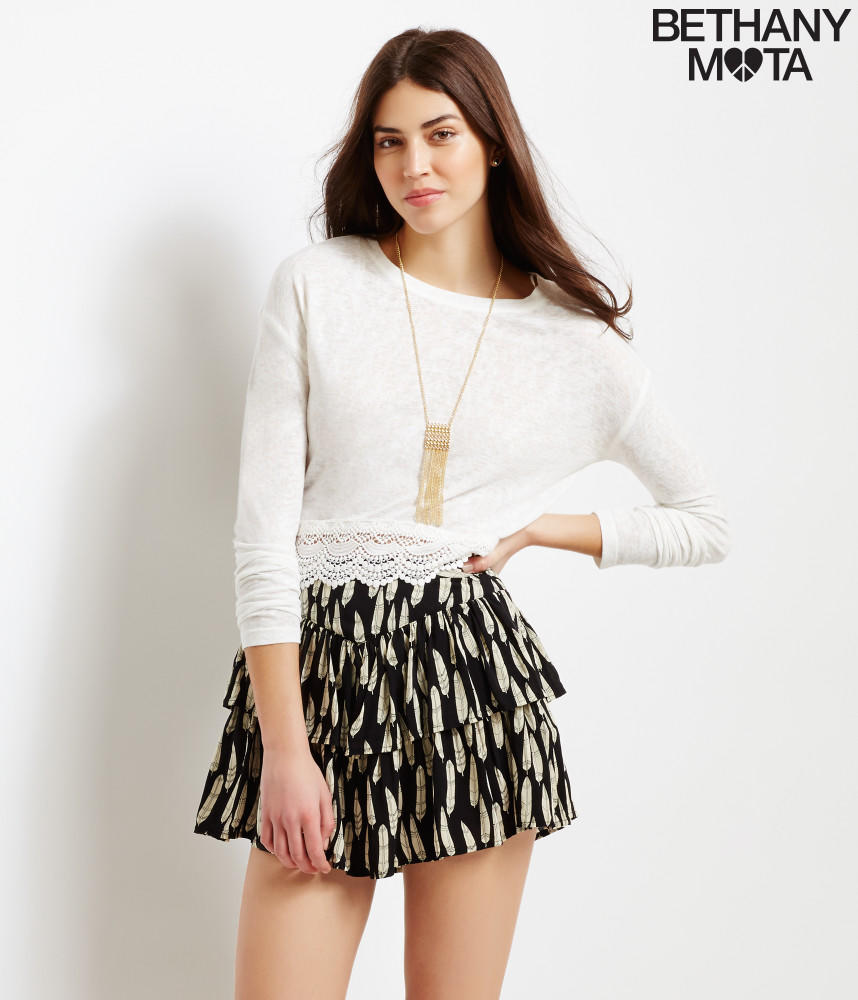 Feather Tiered Skirt From A 233 Ropostale Womens