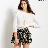 Feather Tiered Skirt