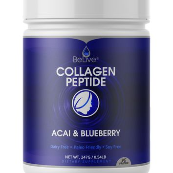 Premium Collagen Peptides Protein Powder Acai & Blueberry Flavor