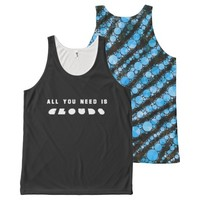 All You need Clouds Zebra Unisex Tank All-Over Print Tank Top