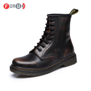 New England Style Dr. Genuine Leather Martin Boots Martin Shoes Men Women boots Brand Motorcycle Autumn Winter Boots 7 colors