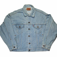 Vintage 90s Levis Jean Jacket Made in USA Mens Size XL