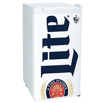 Garage Man Cave Utility 3.2 Cu. Ft. Small Mini Compact Beer Miller Lite Fridge Refrigerator