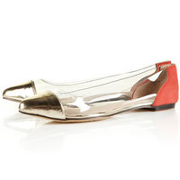 VAST Clear Perspex Point Shoes - Flats  - Shoes  - Topshop USA