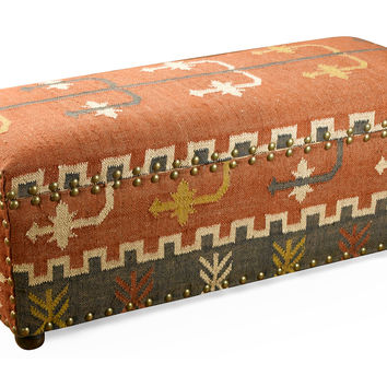 Bench Desi Kilim Storage, Entryway Bench