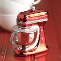 Kitchen Mixer Glass Ornament - 4-in
