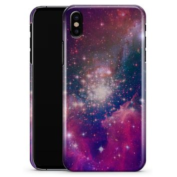 Vibrant Sparkly Pink Space - iPhone X Clipit Case