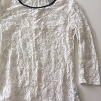 EUC Forever 21 White Lace Top Size Small