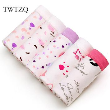 TWTZQ 5Pcs/Lot New Fashion Star Lip Heart Cats Cute Panties Sexy Underwear Women Breifs Female Cotton Girl Lingeries 3NK081