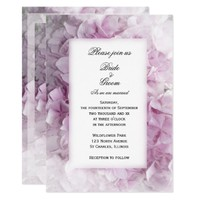 Soft Pink Hydrangea Wedding Invitation