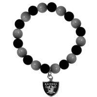 NFL - Oakland Raiders Fan Bead Bracelet