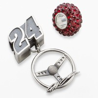 Insignia Collection Nascar Jeff Gordon Sterling Silver ''24'' Steering Wheel Charm & Bead Set