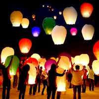 36 Flying Sky Wishing Kongming Lanterns Ships from USA